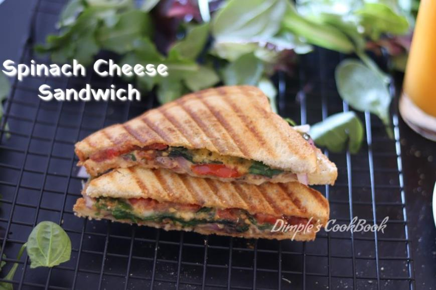 SpinachCheeseTomatoSandwich