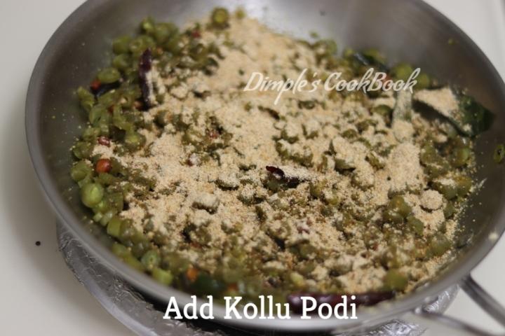 Beans_Poriyal_Kollu_podi (10)